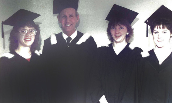 First four bachelor program graduates of King's