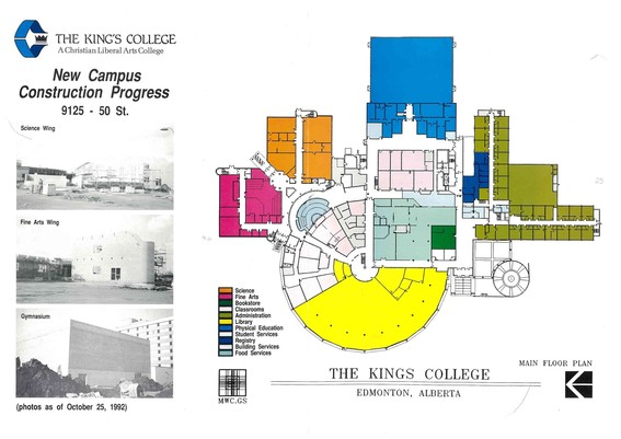 Old campus map highlighting were the new additions will be built