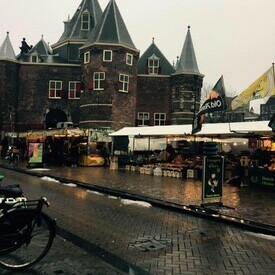 Outdoor market on the streets of Amsterdam