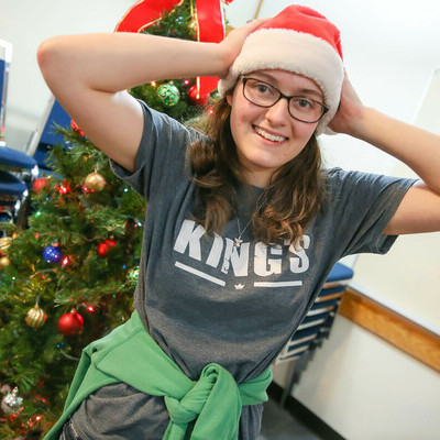 A student leader during Christmas.