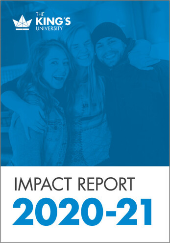 Learn about upcoming King's events and latest news with the 2019 Impact Report.