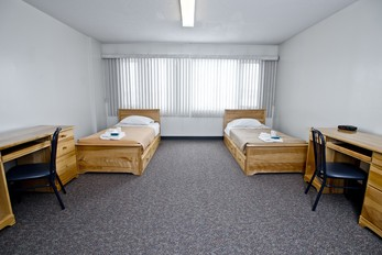 Stay in one of 56 tower rooms at King's which include a bathroom.