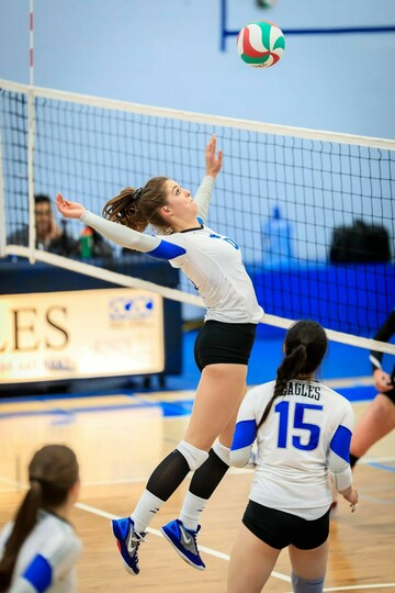 Eagles women's volleyball team captain, Sydney Warchola