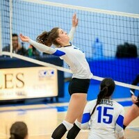 Women's volleyball team ranked second nationally