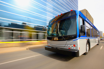The Edmonton transit system includes both a bus and light rail transit (LRT) network for easy access around the city.