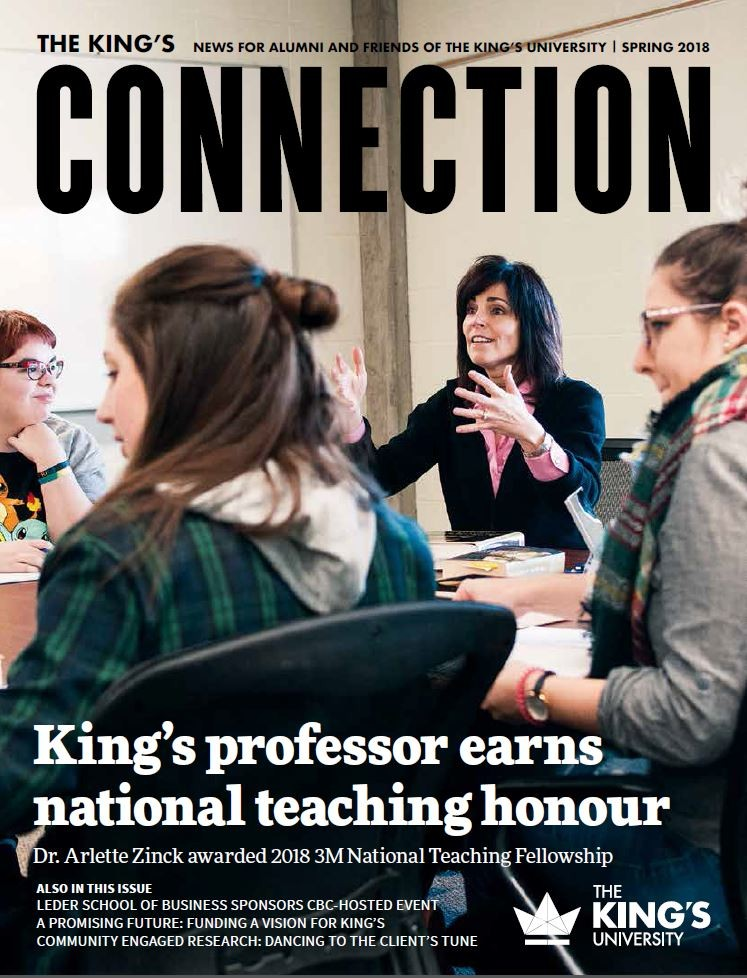 The Connection magazine is King's flagship communication piece.