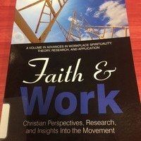 Professor Wiebe Publishes Chapter in New Book Titled Faith & Work