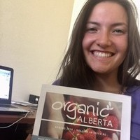 Leder student Emma Newhook interns with Organic Alberta as an Organic Week Coordinator