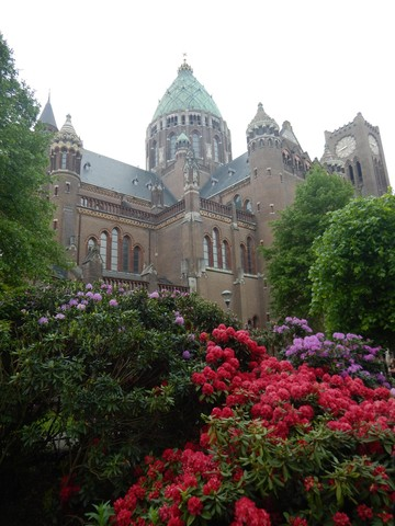 Cathedral of St. Bavo in Haarlem, where the choir participated in a Roman Catholic mass