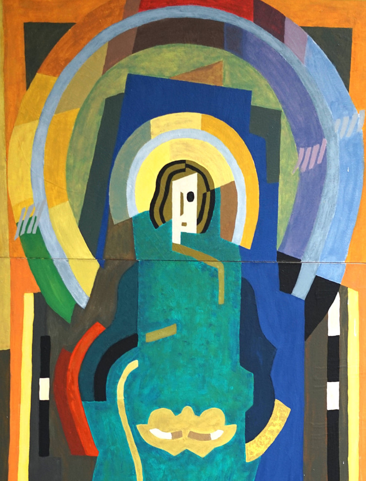 """Figure in Glory"" in the style of Albert Gleizes"