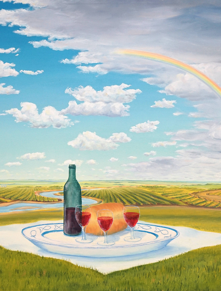 God's Picnic by Edmonton Artist, Jim Visser