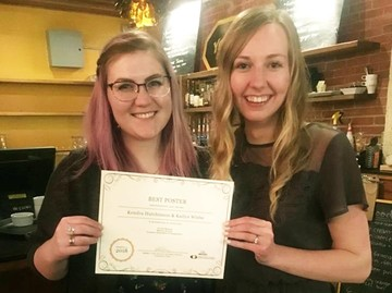 Kailyn (L) and Kendra (R) with their Best Undergraduate Poster award.
