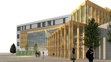 North facade of the proposed Centre for Excellence in the Sciences, part of A Promising Future.