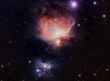 """Stellar nursery"" in the Orion constellation."