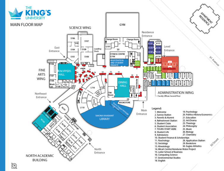 The map of King's Open House allows you to visit each place that makes our school unique.