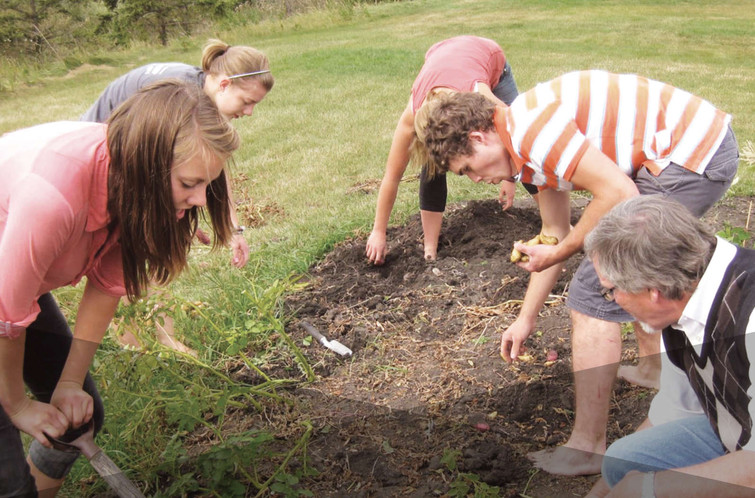 Micah Centre Students gardening