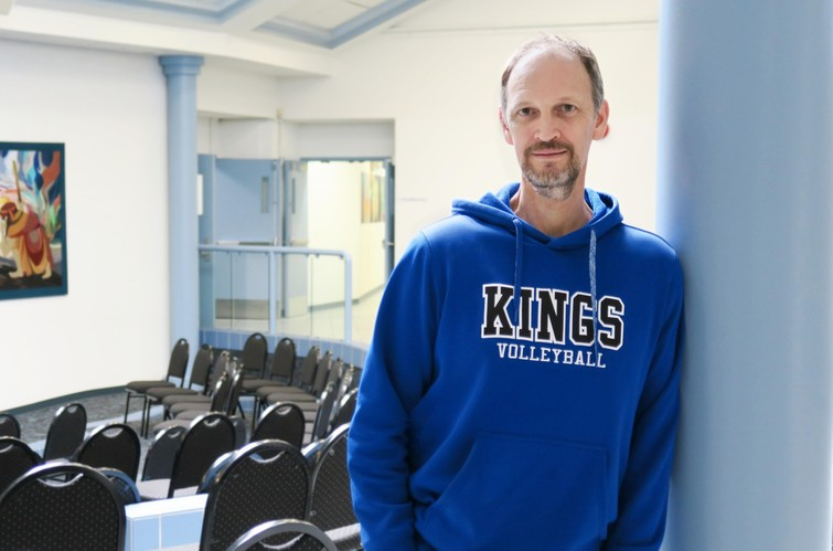 King's men's volleyball coach, Phil Dixon