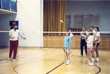 Bob teaching a Phys Ed class at King's, 1987