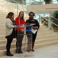 King's students participate in Edmonton City Hall racism awareness event