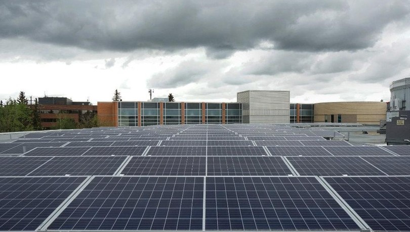 New solar field on top of King's campus