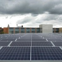 Solar field and roof replacement project, completed