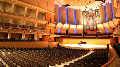 Inside Winspear Centre in Edmonton, Alberta.